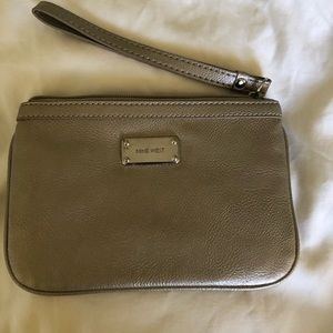 Nine West pewter color wristlet.